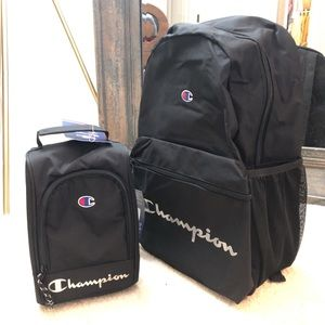 CHAMPION YOUTH QUAKE BACKPACK AND LUNCH BOX OS